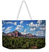Red Hills And Green Tress Weekender Tote Bag