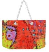Red Hot Summer Girl Weekender Tote Bag