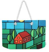 Red House Amidst The Greenery Weekender Tote Bag
