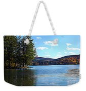 Red House Lake Allegany State Park In Autumn Expressionistic Effect Weekender Tote Bag