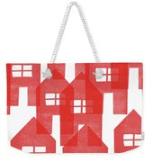 Red Houses- Art By Linda Woods Weekender Tote Bag
