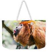 Red Howler Monkey Alpha Male Weekender Tote Bag