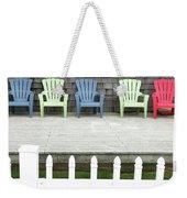 Red Hued Step-chair Weekender Tote Bag