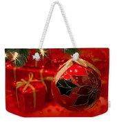Red Is Christmas Weekender Tote Bag