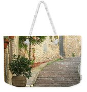Red Ivy And Steps In Assisi Italy Weekender Tote Bag