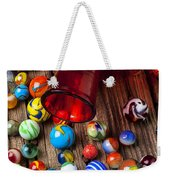 Red Jar With Marbles Weekender Tote Bag by Garry Gay