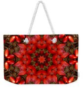 Red Kaleidoscope No. 1 Weekender Tote Bag