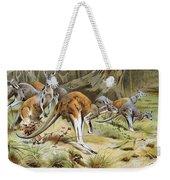Red Kangaroo Weekender Tote Bag