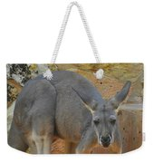 Red Kangaroo Weekender Tote Bag