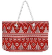 Red Knitted Winter Sweater Weekender Tote Bag