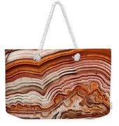 Red Laguna Lace Agate Weekender Tote Bag