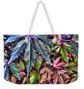 Red Leaf Hibiscus Weekender Tote Bag