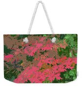 Red Leafs Work Number 12 Weekender Tote Bag