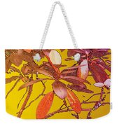 Red Leaves Gold Sunset Weekender Tote Bag