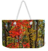 Red Leaves Of Autumn Weekender Tote Bag