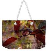 Red Leaves Painted Effect Weekender Tote Bag