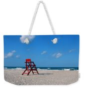 Red Life Guard Chair Weekender Tote Bag