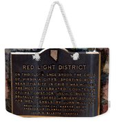 Red Light District Weekender Tote Bag