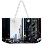 Red Lights - City Of Chicago Weekender Tote Bag