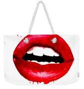 Red Lips 3  Weekender Tote Bag
