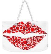 Red Lips Art - Big Kiss - Sharon Cummings Weekender Tote Bag