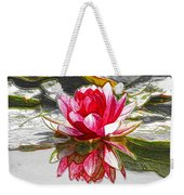 Red Lotus Flower Weekender Tote Bag