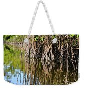 Red Mangrove Roots Reflections In The Gordon River Weekender Tote Bag
