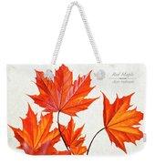 Red Maple Weekender Tote Bag