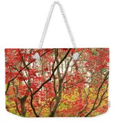 Red Maple Leaves And Branches Weekender Tote Bag