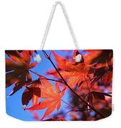 Red Maple Weekender Tote Bag