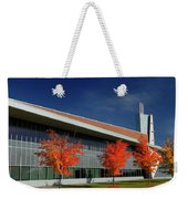 Red Maple Trees And Modern Architecture Of Seneca College York U Weekender Tote Bag