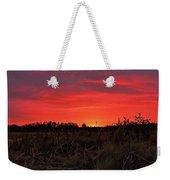 Red Marsh Sunrise Weekender Tote Bag