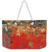 Red Meander Weekender Tote Bag