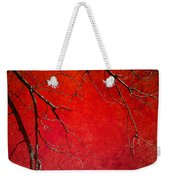Red Morning Weekender Tote Bag