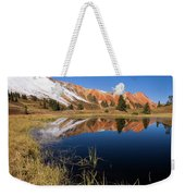 Red Mountain Reflection Weekender Tote Bag