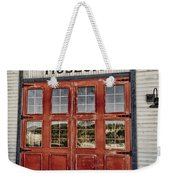 Red Museum Door Weekender Tote Bag