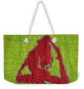 Red Nude Yoga Girl Weekender Tote Bag