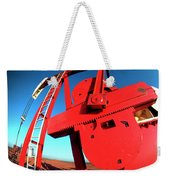 Red Oil Well Pump Oilfield Weekender Tote Bag