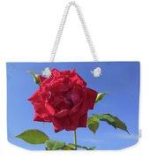 Red On Blue Weekender Tote Bag