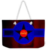Red On Red With Blue Weekender Tote Bag