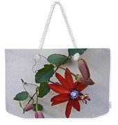 Red On White Weekender Tote Bag