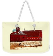 Red One And Two Weekender Tote Bag