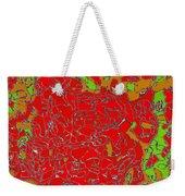 Red Orange Green Abstract Painting Weekender Tote Bag