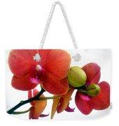 Red Orchid Flowers 02 Weekender Tote Bag