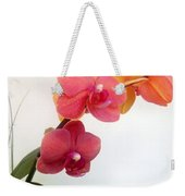 Red Pink Golden Orchid Flowers 03 Weekender Tote Bag