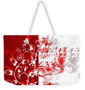 Red Ornament Weekender Tote Bag