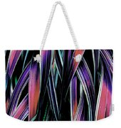 Red Palm Fronds Weekender Tote Bag