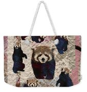 Red Panda Abstract Mixed Media Digital Art Collage Weekender Tote Bag