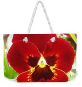 Red Pansy Weekender Tote Bag