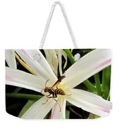 Red Paper Wasp And Spider Lily 000 Weekender Tote Bag